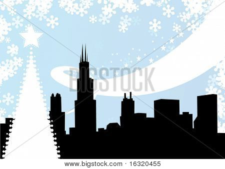 Chicago winter background