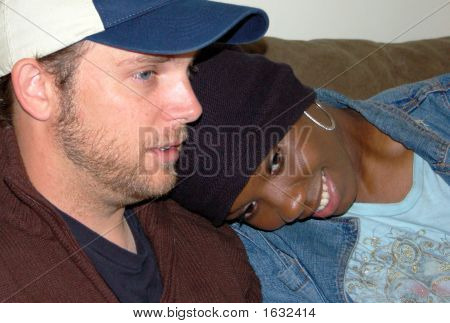 Head shots of a young couple with the