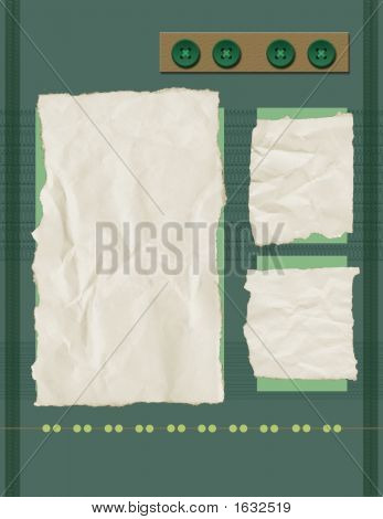Scrapbook Page Background - Green Lace Page