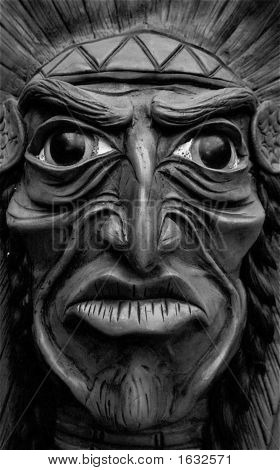 Indian Mask Black And White