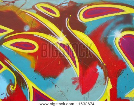 Abstract Graffiti Painting