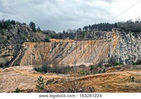 Kaolin quarry in Czech Republic vintage filters