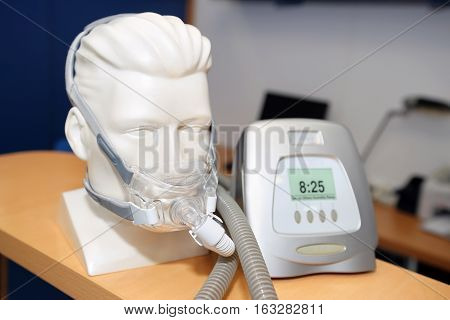 Non-invasive ventilatory support CPAP (continuous positive airway pressure support) for disease sleep apnea