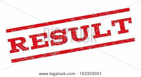 Result watermark stamp. Text caption between parallel lines with grunge design style. Rubber seal stamp with dust texture. Vector red color ink imprint on a white background.