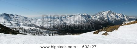 Dolomites Panorama In Winter