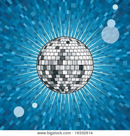 Blau Disco-Kugel
