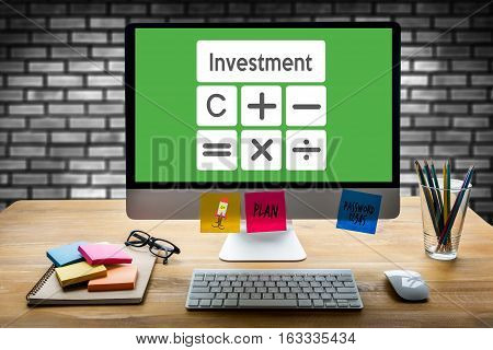 Calculation Business Investment Accounting Banking Budget Calculator ,  Pressing Calculator Buttons