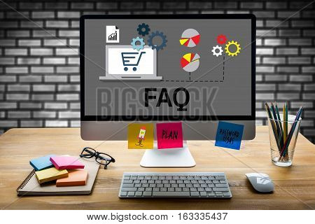Customer Service Faqs , Faq Question Information Frequently Asked Question , Business Hand Clicking