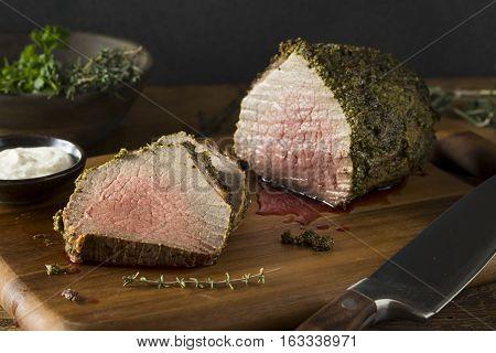 Homemade Herb Crusted Roast Beef