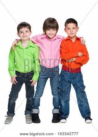 Three Fashion Young Boys