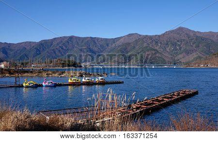 View Of The Lake With Kawaguchi Township