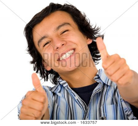 Happy Guy With Thumbs Up