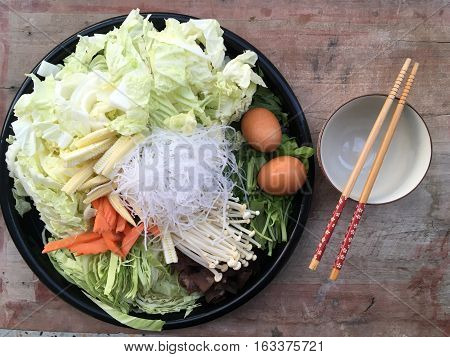 super fresh vegetables healthy foods diet prepared to cook on background wooden