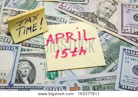 text 15 th april with us dollar