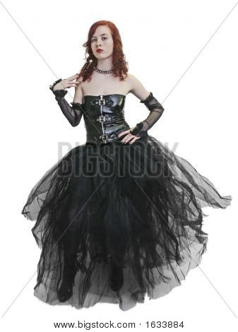 Gothic Girl In Black Dress