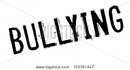 Bullying rubber stamp. Grunge design with dust scratches. Effects can be easily removed for a clean, crisp look. Color is easily changed.