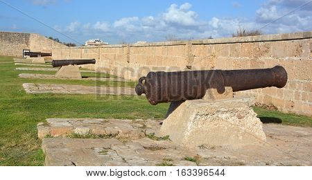 ACRE ISRAEL 01 11 16: Cannon of Siege of Acre of 1799 was an unsuccessful French siege of the Ottoman city of Acre and turning point of Napoleon invasion of Egypt and Syria one of Napoleon few defeats