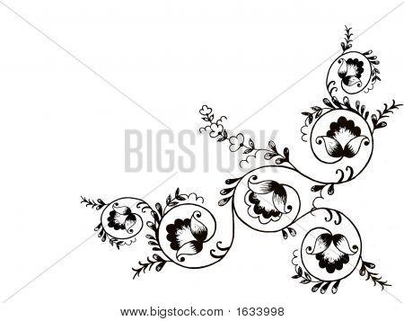 Black Flower Ornament
