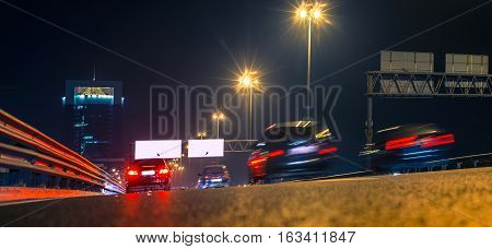 night city traffic with its blur motion