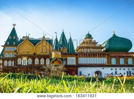Russia Moscow Kolomensky. Reconstructed palace of Tsar family
