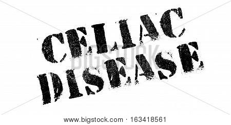 Celiac Disease rubber stamp. Grunge design with dust scratches. Effects can be easily removed for a clean, crisp look. Color is easily changed.