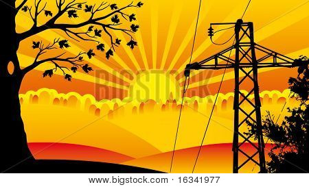 high-tension transmission line