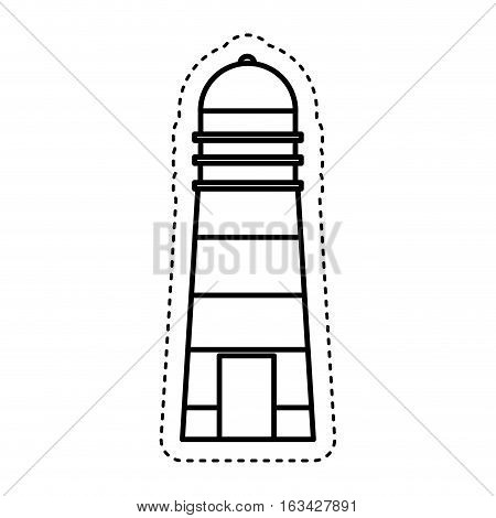 lighthouse maritime isolated icon vector illustration design