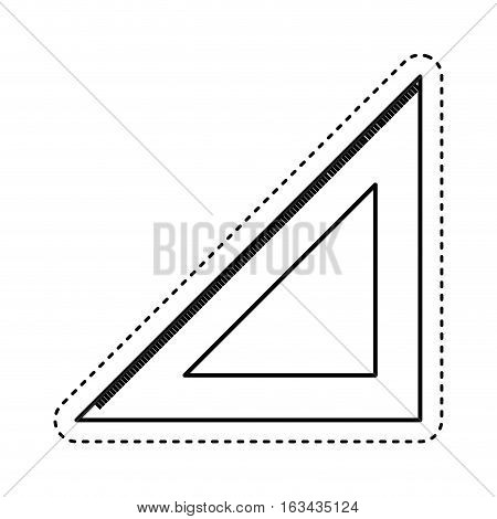 rule school supply icon vector illustration design