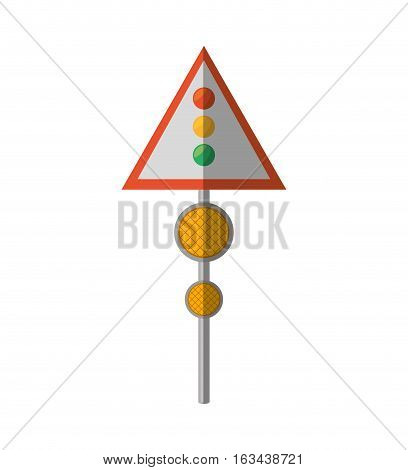 cartoon sign road light traffic vector illustration eps 10