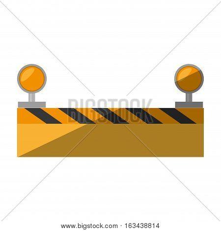 cartoon under constuction board light vector illustration eps 10