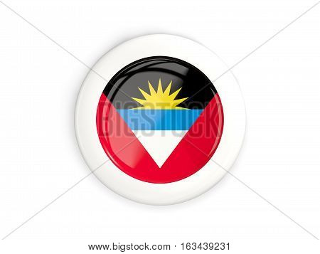Flag Of Antigua And Barbuda, Glossy Round Button
