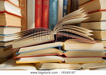 books close up
