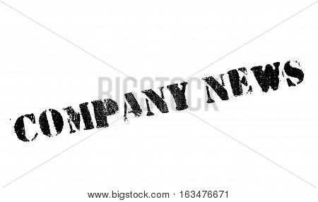Company news stamp. Grunge design with dust scratches. Effects can be easily removed for a clean, crisp look. Color is easily changed.