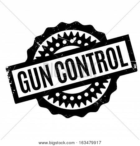 Gun Control rubber stamp. Grunge design with dust scratches. Effects can be easily removed for a clean, crisp look. Color is easily changed.