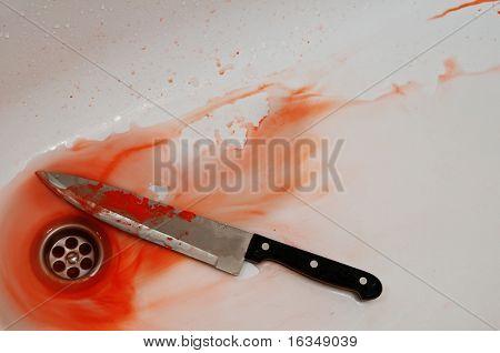 instrument of murder in bath