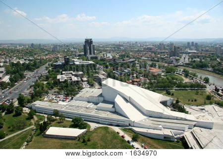 Aerophoto Of Skopje Macedonia