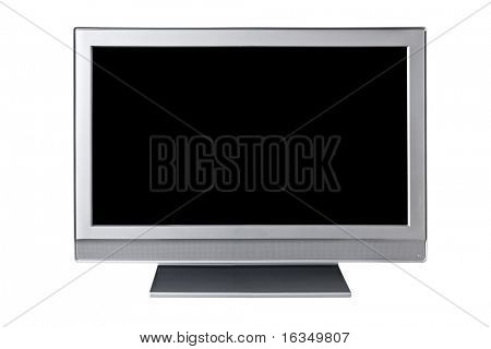 liquid-crystal tv isolated on white