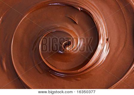 black chocolate circulation close up