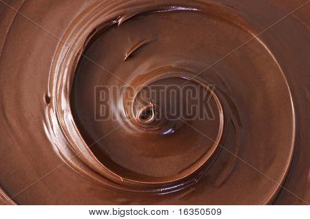 schwarze Schokolade Windung hautnah
