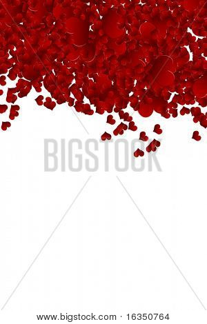 valentine background from heart confetti