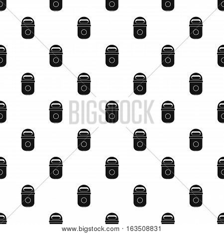 Trash can pattern. Simple illustration of trash can vector pattern for web