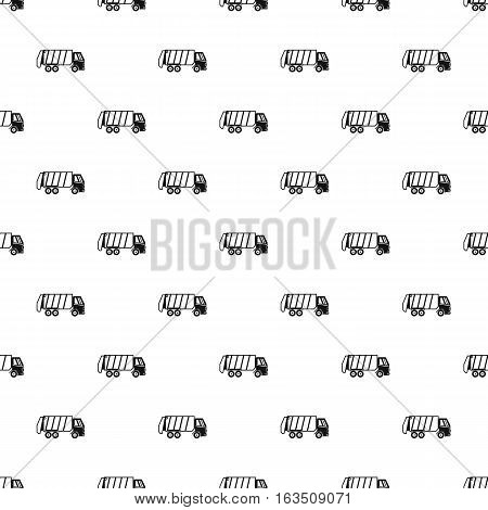 Truck for garbage pattern. Simple illustration of truck for garbage vector pattern for web