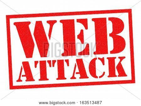 WEB ATTACK red Rubber Stamp over a white background.