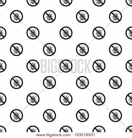 Prohibition sign colorado beetles pattern. Simple illustration of prohibition sign colorado beetles vector pattern for web