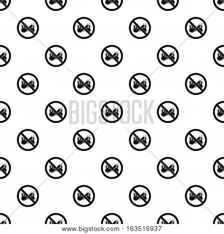Prohibition sign butterfly pattern. Simple illustration of prohibition sign butterfly vector pattern for web