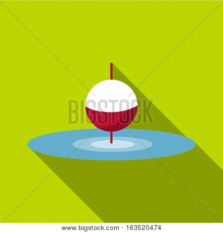 Small floating bobber icon. Flat illustration of small floating bobber vector icon for web