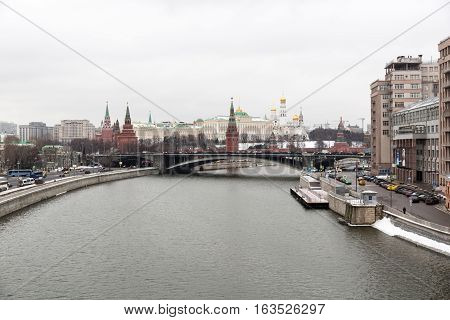 View Of The Moscow Kremlin