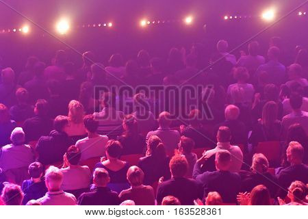 Les Mureaux France - october 5 2016 : people in a concert hall