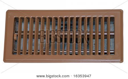 floor register or grate on white background