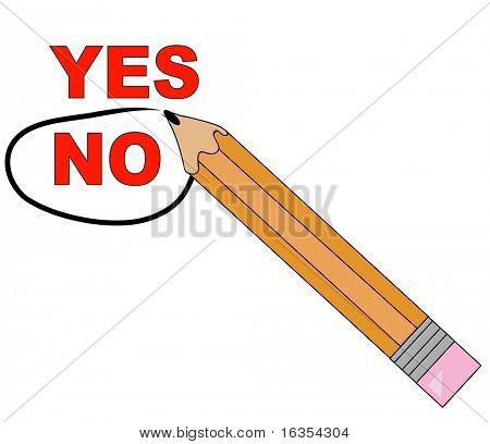lápiz elegir no y que lo circunda